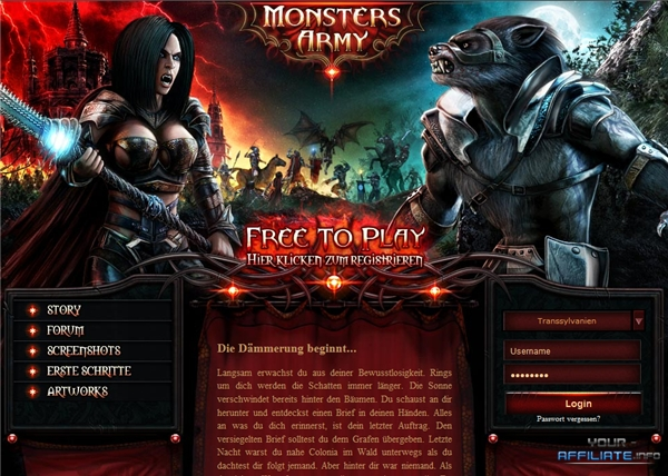 browsergames monstersarmy Rollenspiele / Action